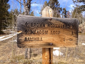 Meadow Loop marker