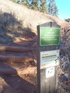 NCAR entrance and trail info