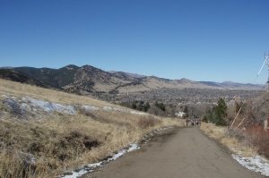 View of the Front range from Bluebell Road