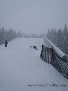 The Tubing tracks at Keystone