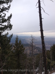 The front range looked especially beautiful from the summit