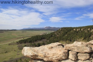 The view at the top of Spruce Mountain and the South end of the front range