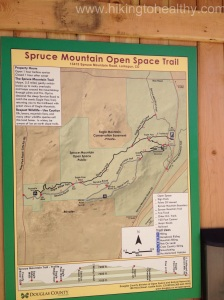 Trail map at the start