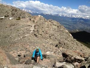 climbing east peak
