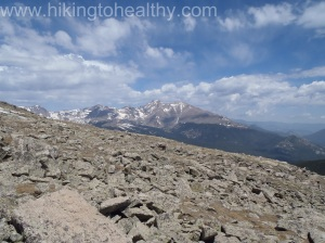 THe view north as the boulder field ended and we were steps away from the summit,