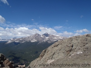 View of Longs Peak from the East Summit