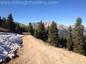 Colorado Mines Peak Road past the Mt. Flora trailhead.