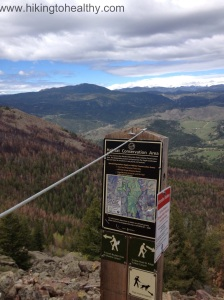 trail to bear canyon from summit