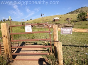 Gates to cross over to private property