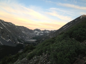Blue Lakes just south of Quandary at sunrise