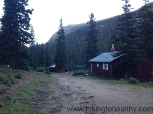 Cabins as you pass Idaho Springs Reservoir