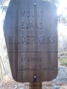 After the Aspen grove you officially enter Mt. Evans Wilderness