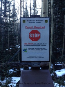 Permit station and only place I saw the official trail name...too bad it isn't as ominous as the old sign
