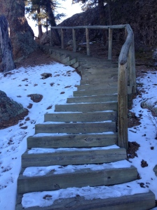 Stairs coming down