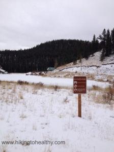 Elk Falls pond signage