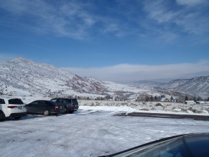 Looking icy cold when we start at Mt. Falcon - my car said it was -2