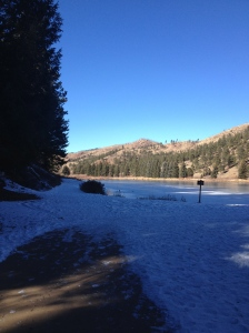 The Bottom of Park view trail on the other side of Pine Lake