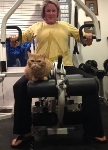 Nugget is helping me do chest