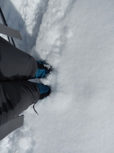The snow is just below my knees...although this looks odd