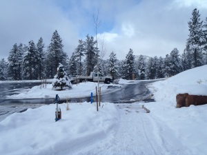 The state park did a great job plowing the parking lot!