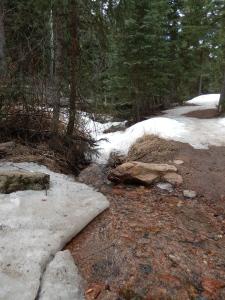 one of many creek crossings on Mason Creek