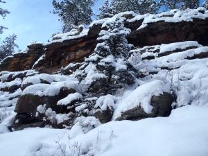 Rocks along Mason Creek Winter