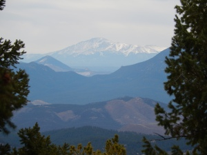 Pikes Peak was all lit up whenever we saw it from the trail.