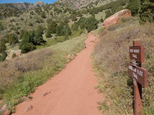 Back on Red Rocks Trail