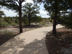 The trail from the car to the trailhead was paved