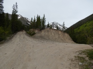 Go right to Grizzly Gulch Road