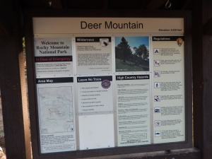 Deer Mountain trail sign