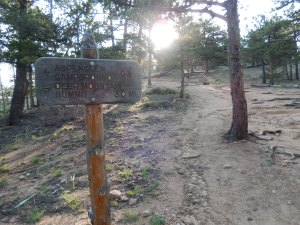 First trail marker