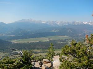 View looking south towards Long's Peak