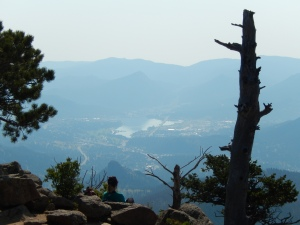 View of Estes Park from the Summit.